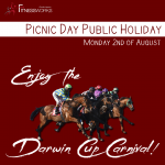 🐎 PICNIC DAY PUBLIC HOLIDAY 🏇